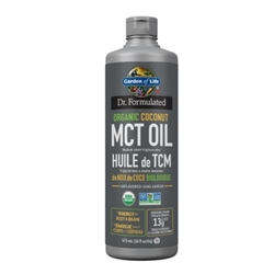 Dr. Formulated 100% Organic MCT Oil - 473ml - Garden of Life