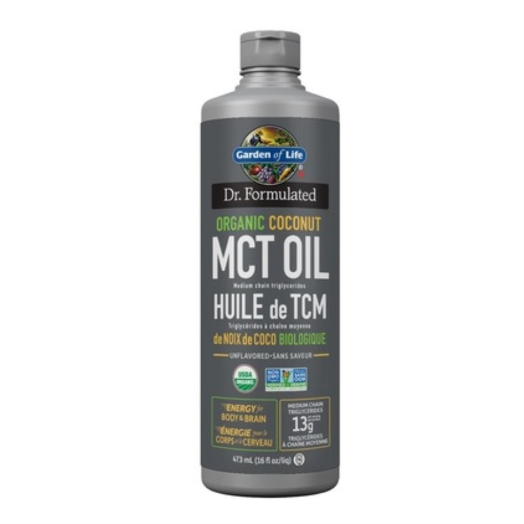 Dr  Formulated 100% Organic MCT Oil - 473ml - Garden of Life