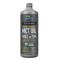Dr. Formulated 100% Organic MCT Oil - 946ml - Garden of Life