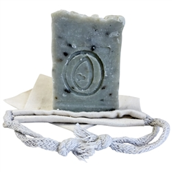 Natural Handmade Soap - Lemongrass & Rosemary with Sage Botanicals & Sea Clay 100g - Rallis