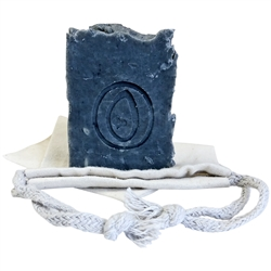Natural Handmade Soap - Patchouli & Bergamot with Activated Charcoal 100g - Rallis