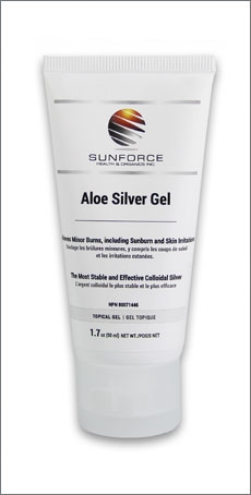 Aloe Silver Gel Topical Gel 1 7 Oz 50 Ml Sunforce