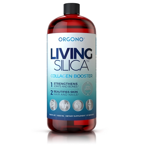 Orgono Living Silica - Collagen Booster - Reformulated 2x Stronger - 1000ml/34oz.Liquid  - Silicium Laboratories