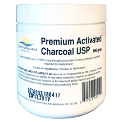 Premium Activated Charcoal USP - 100g POWDER ***CLEARANCE BEST BEFORE MAY 2020***