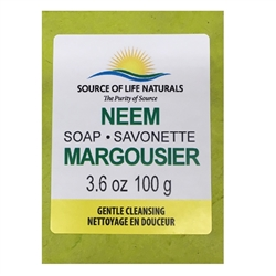Neem Soap 3.6oz (100g) - Gentle Clensing Soap ***CLEARANCE BEST BEFORE APRIL 2020***