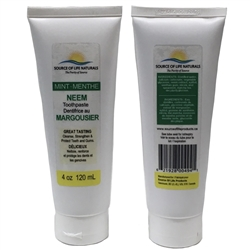 Neem Toothpaste - Mint - 4oz (120ml) *** CLEARANCE BEST BEFORE OCTOBER 2019 ***