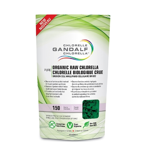 Gandalf Chlorella Powder 150 G Raw Organic