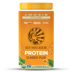 Classic PLUS - Natural, 750g. TUB (Raw, GMO-free, Gluten Free) - Sun Warrior ***CLEARANCE BEST BEFORE APRIL 2020***