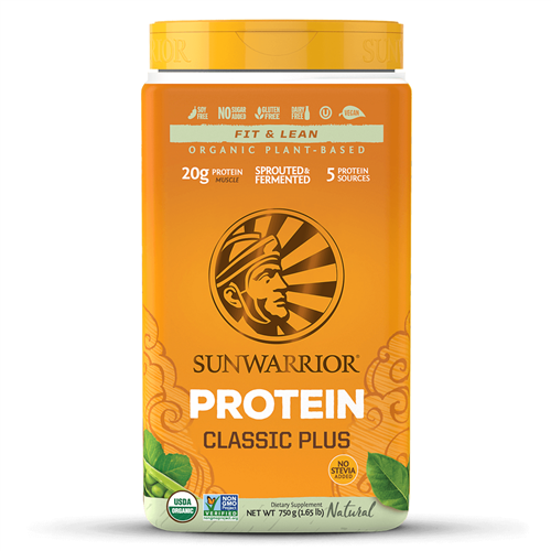 Classic PLUS - Natural, 750g. TUB (Raw, GMO-free, Gluten Free) - Sun Warrior *** CLEARANCE BEST BEFORE JULY 2019 ***