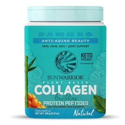 Collagen Building Protein Peptides - Natural, 500g. TUB (Soy-free, GMO-free, Gluten Free) - Sun Warrior