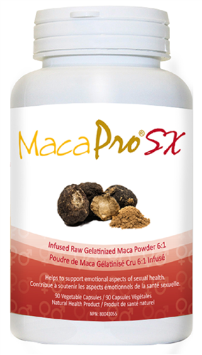 Maca Pro SX - Infused Raw Gelatinized Maca Powder - 90 veg caps