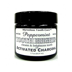Tooth Brights (with activated charcoal) Peppermint - 1.7oz jar