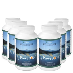 POWER ON (formerly BRAIN ON™) by E3 LIVE - 6 bottles - Fresh-Frozen 100% AFA - Blue Green Algae (16oz./bottle) - FREE SHIPPING