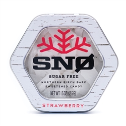 Snowflakes Xylitol Candies (STRAWBERRY) - Smart Sweet (derived from Birch) - (2 oz tin) *** CLEARANCE BEST BEFORE SEPTEMBER 2019 ***